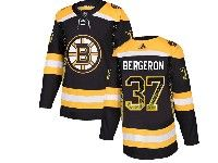 Mens Nhl Boston Bruins #37 Patrice Bergeron Black Drift Fashion Home Adidas Jersey