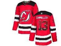 Mens New Jersey Devils #13 Nico Hischier Red Drift Fashion Home Adidas Jersey