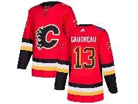Mens Adidas Nhl Calgary Flames #13 Johnny Gaudreau Red Drift Fashion Home Jersey