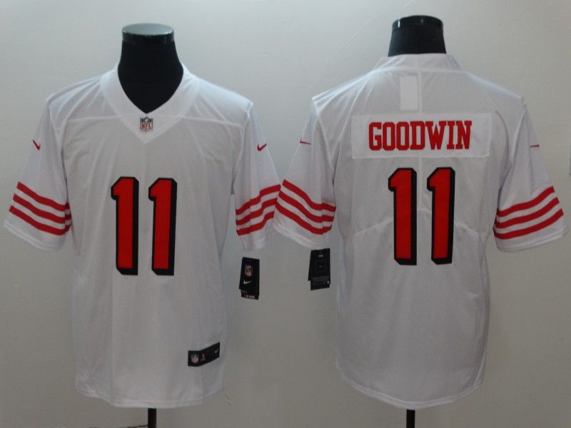 Mens Nfl San Francisco 49ers #11 Marquise Goodwin White Color Rush Vapor Untouchable Limited Player Jersey