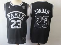 Mens Nba Movie Aj Psg Paris Saint Germain #23 Michael Jordan Basketball Balck Jersey