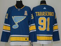 Mens Nhl St.louis Blues #91 Vladimir Tarasenko Blue Alternate Adidas Jersey