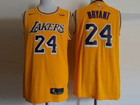Mens Nba Los Angeles Lakers #24 Kobe Bryant Nike 2018-19 Swingman Gold Jersey