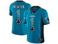 Mens Nfl Carolina Panthers #1 Cam Newton Blue Drift Fashion Vapor Untouchable Limited Jersey