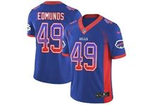 Mens Nfl Buffalo Bills #49 Tremaine Edmunds Blue Drift Fashion Vapor Untouchable Limited Jersey