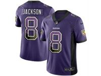 Mens Nfl Baltimore Ravens #8 Lamar Jackson Purple Drift Fashion Vapor Untouchable Limited Jersey