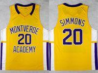 Mens Ncaa Nba Montverde Academy #20 Ben Simmons Gold Jersey