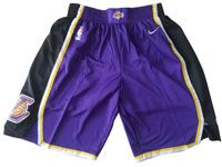 Mens 2017-18 Season Nba Los Angeles Lakers Purple Black Nike Shorts