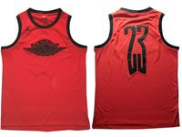 Mens Nba Chicago Bulls #23 Michael Jordan Air Jordan Red Mesh Jersey