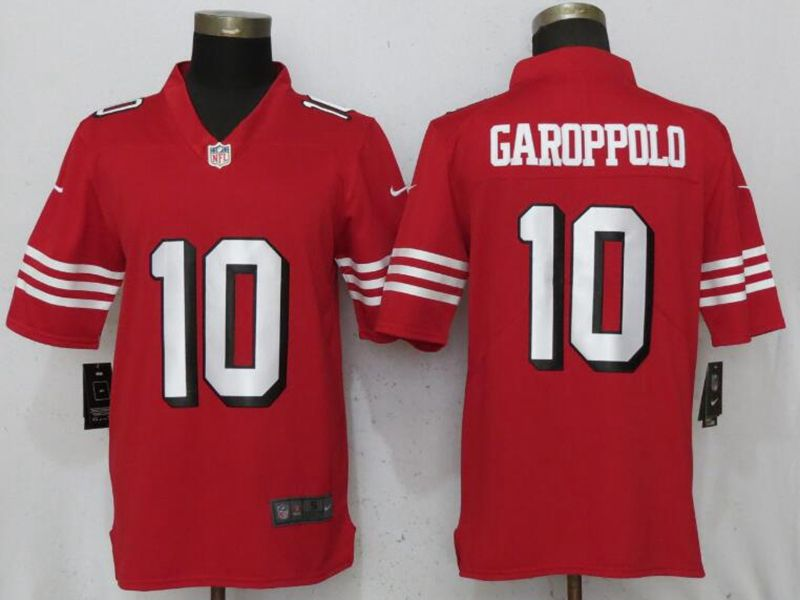 Mens Nfl San Francisco 49ers #10 Jimmy Garoppolo Red Color Rush Vapor Untouchable Limited Jersey