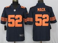 Mens Nfl Chicago Bears #52 Khalil Mack Navy Blue Throwback Nike Game Jersey