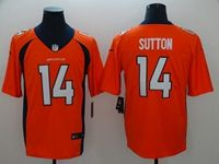 Mens Nfl Denver Broncos #14 Courtland Sutton Orange Vapor Untouchable Limited Player Jersey