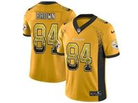 Mens Nfl Pittsburgh Steelers #84 Antonio Brown Yellow Drift Fashion Vapor Untouchable Limited Jersey