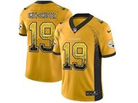 Mens Nfl Pittsburgh Steelers #19 Smith-schuster Yellow Drift Fashion Vapor Untouchable Limited Jersey