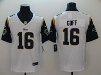 Mens Nfl St. Louis Rams #16 Jared Goff White Vapor Untouchable Nike Limited Player Jersey