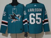 Mens Adidas Nhl San Jose Sharks #65 Erik Karlsson Green Home Jersey