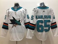 Mens Adidas Nhl San Jose Sharks #65 Erik Karlsson White Jersey