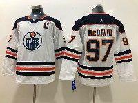 Youth Nhl Edmonton Oilers #97 Connor Mcdavid White Adidas Jersey