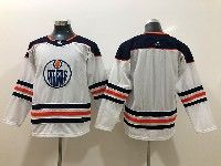 Youth Nhl Edmonton Oilers Blank White Adidas Jersey
