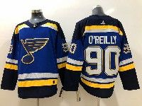 Mens Nhl St.louis Blues #90 Ryan O'reilly Blue Adidas Jersey