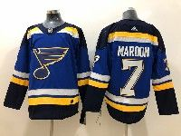 Mens Nhl St.louis Blues #7 Patrick Maroon Blue Adidas Jersey