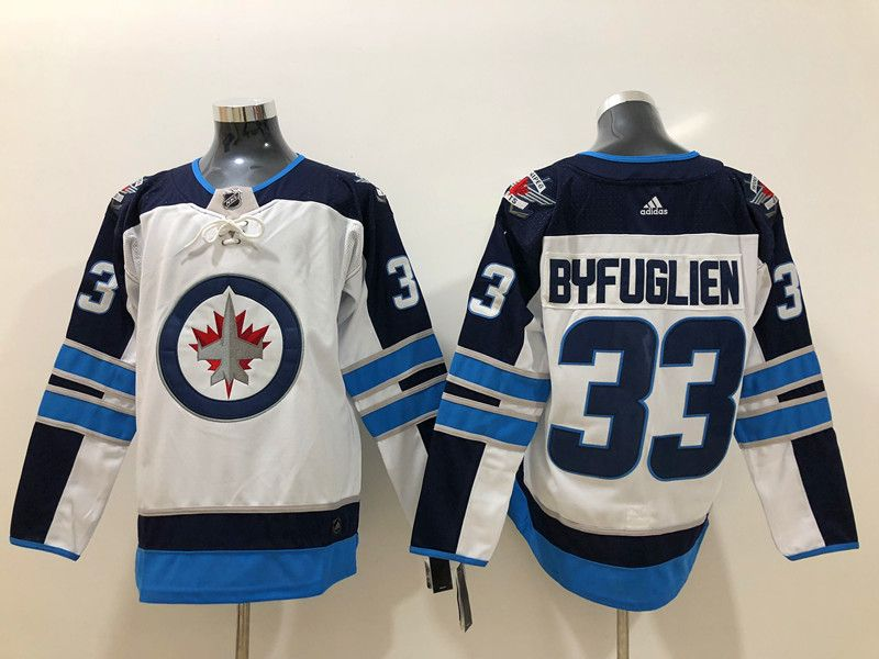 Mens Nhl Winnipeg Jets #33 Dustin Byfuglien White Adidas Jersey