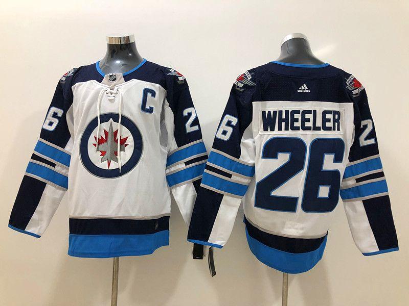 Mens Nhl Winnipeg Jets #26 Blake Wheeler White Adidas Jersey