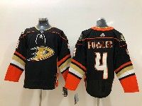 Mens Nhl Anaheim Mighty Ducks #4 Cam Fowler Black Adidas Home Jersey