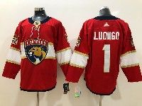 Mens Florida Panthers #1 Roberto Luongo Red Adidas Jersey