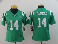 Women Nfl New York Jets #14 Sam Darnold Green Color Rush Limited Jersey