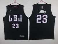 New Mens Nba Los Angeles Lakers #23 Lebron James Black Mitchell&ness Jersey