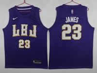 New Mens Nba Los Angeles Lakers #23 Lebron James Purple Mitchell&ness Jersey