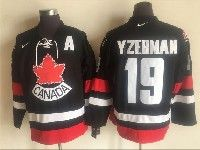 Mens Nhl Team Canada #19 Steve Yzerman Black 2006 Olympics Nike Throwback Jersey