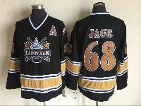 Mens Nhl Washington Capitals #68 Jaromir Jagr Black Throwbacks Ccm 1990 Vintage Classic Jersey