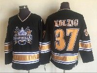 Mens Nhl Washington Capitals #37 Kolzig Black Throwbacks Ccm 1990 Vintage Classic Jersey