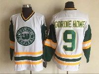 Mens Nhl Hartford Whalers #9 Gordie Howe White New Throwbacks Jersey