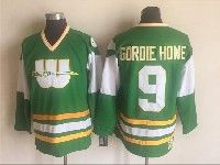 Mens Nhl Hartford Whalers #9 Gordie Howe Green New Throwbacks Ccm Jersey
