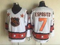Mens 1980 Nhl All-star Game #7 Esposito White Throwbacks Ccm Jersey