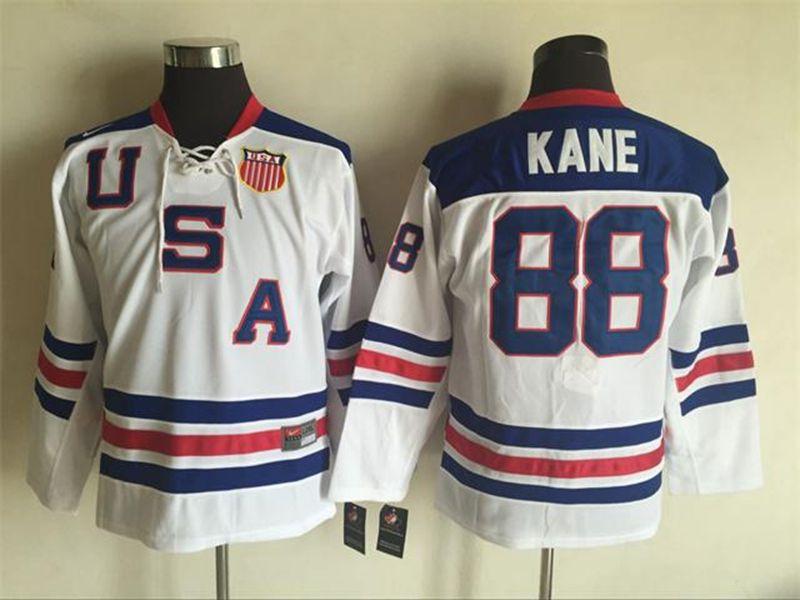 Mens Nhl Team Usa #88 Patrick Kane White Throwbacks Ccm Jersey