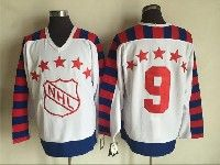 Mens Nhl All Star Campbell #9 Mcdonald White Throwbacks Ccm Jersey No Name