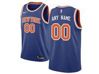New Mens Nba New York Knicks Custom Made Blue Swingman Nike Jersey