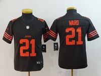 Women Youth Nfl Cleveland Browns #21 Denzel Ward Brown Color Rush Vapor Untouchable Limited Nike Jersey