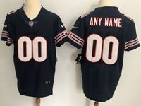 Mens Chicago Bears Blue Custom Made Vapor Untouchable Elite Jersey