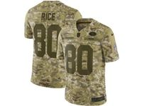 Mens Nfl San Francisco 49ers #80 Jerry Rice 2018 Camo Salute To Service Limited Jersey