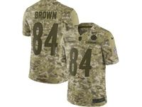 Mens Nfl Pittsburgh Steelers #84 Antonio Brown 2018 Camo Salute To Service Limited Jersey