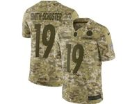 Mens Nfl Pittsburgh Steelers #19 Juju Smith-schuster 2018 Camo Salute To Service Limited Jersey