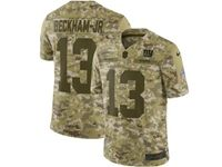 Mens Nfl New York Giants #13 Odell Beckham Jr 2018 Camo Salute To Service Limited Jersey