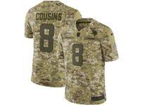 Mens Nfl Minnesota Vikings #8 Kirk Cousins 2018 Camo Salute To Service Limited Jersey