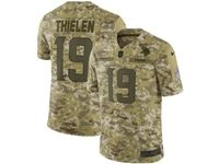 Mens Nfl Minnesota Vikings #19 Adam Thielen 2018 Camo Salute To Service Limited Jersey
