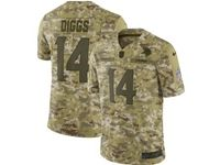 Mens Nfl Minnesota Vikings #14 Stefon Diggs 2018 Camo Salute To Service Limited Jersey